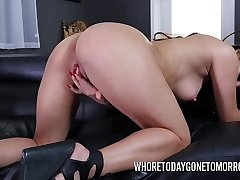 Keilani Kita fingers and toys her trimmed pussy