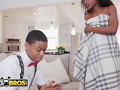 BAGBROS - Young Ebony Babe Noemie Bilas Gets Turned Masturbating By Her Pervert Step Brother Lil D