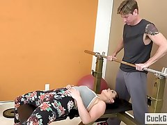 Cheating Spliced Fucked at the end of one's tether Her Gym Trainer
