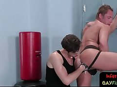 Bdsm locker room stud fisting jocks ass