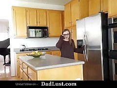 Horny Teen Fucked by Stepdad