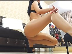 Anastasia - Sexy Ass and Fingertips on high Pantyhose - Nyloncams