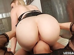 This is Anal action with acute anal orgasms with sexy booty babes Riley Reyes &amp_ Blair Williams.