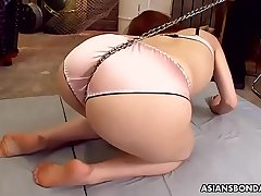 Little Asian bimbo tormented and toyed by many sexual deviants