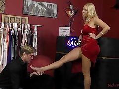 Hot Blonde Dominates a Customer In eradicate affect Accumulate - Vanessa Cage - Femdom