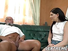 Luscious Miranda Miller blows with an increment of rides older cock