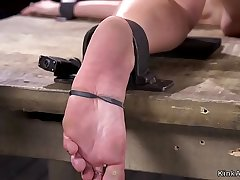 Blonde in strict bondage anally uncensored