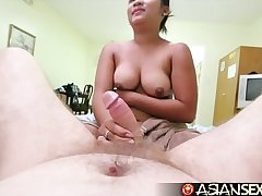 Asian Sexual connection Diary - Chubby Filipina babe takes uninspiring cock