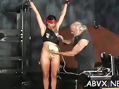 Stripped woman spanking video with pioneering bondage