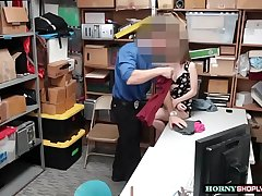 Hot Kimmy gets pounded by horny officers
