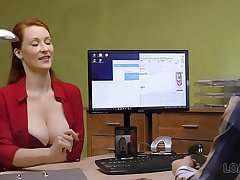 LOAN4K. Busty redhead pays with sex for development be expeditious for her matter