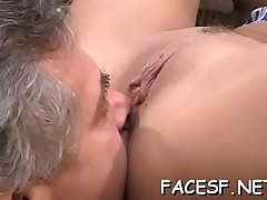 White chick gets her big whoppers and ass licked by black dude