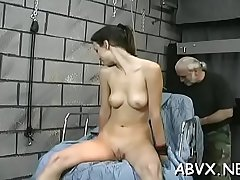 Bbw hottie severe stimulation in through-and-through bondage scenes
