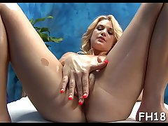 Teen with a succulent wazoo gets nailed not later than a massage