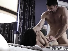 Cute latina creampied by taboo cock