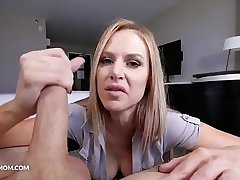 Pervy mom enjoys step son'_s load on her face