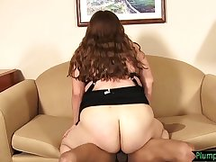 BBW interracially plowed on all fours
