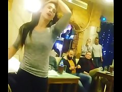 arab unspecific dancing with friends in Cafe