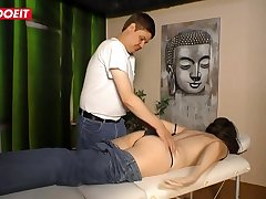 German Grown up Join in matrimony gets Fucked by the Masseur