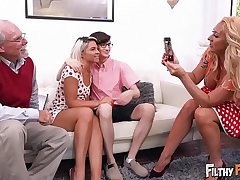 FILTHY FAMILY - Dick Joins This Twisted Orgy, Including Grandpa!