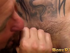 Inked Asian hunk swapping turns with super horny daddy