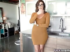 Chubby Booty MILF Helps Her Step-Son Out