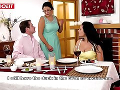 Hot Pamper Fucked by Step Dad at Family Dinner (Lucia Denvile)