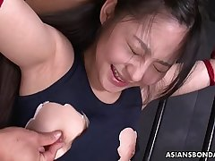 Sub slut Sayaka gets toyed by vegetables and sucks dicks