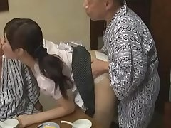Sexy Azusa Nagasawa has sex with four lucky old men