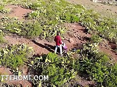 outdoor put over a produce blowjob with drone