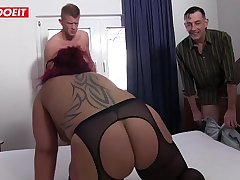 German amateur housewife gets shared with a Stranger