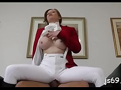 Shy slut gives amazing oral-sex and then takes ham something the cunt