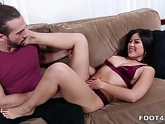 Kendra Spade wants a hot load in excess of her pretty feet